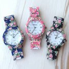 Hot 2015 New Nation Wind Women's Geneva Floral Print Ceramic Style Watches