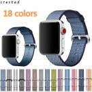 CRESTED Woven Nylon strap band For Apple Watch band 42 mm 38 mm wrist brace