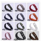 Wholesale Stripe Cambo Solid Black Watch 18 20 22 24mm Multi Color Army Mil