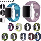 CRESTED colorful Silicone strap for apple watch band 42mm Rubber sport brac