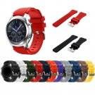 Gear S3 Frontier / Classic Watch Band, 22mm Soft Silicone Man Watch Replac