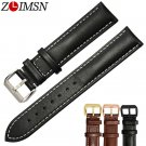 ZLIMSN Genuine Leather Watch Bands Black Brown Replacement Straps 18 20 22