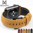 MAIKES New vintage leather watchbands watch accessories for iwatch bracelet