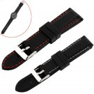 1 PC Mens BoysSilicone Rubber Watch Straps Bands Waterproof 20mm 22mm 24mm-