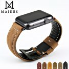 MAIKES new design vintage genuine cow leather watchbands watch accessory br