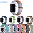 CRESTED Woven Nylon strap band For Apple Watch 42mm 38mm wrist braclet belt