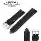 Leather Watch Strap 20mm 22mm 24mm Watch Band Brown Black Woman Man Watchba