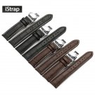 iStrap 18mm 19mm 20mm 21mm 22mm 24mm Black Brown Genuine Leather Watch band