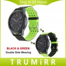 22mm Silicone Rubber Watch Band Double Side Wearing Strap for Samsung Gear