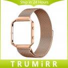 23mm Milanese Loop Strap + Metal Frame for Fitbit Blaze Stainless Steel Wat