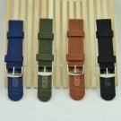 Simple Watch Band Solid Color Strap Nylon Mesh Watchbands 20mm 22mm 24mm Wo
