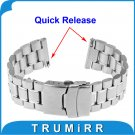 22mm Quick Release Watch Band Bracelet Strap for Pebble Time / Steel Asus Z