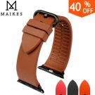 MAIKES New fashion brown fluororubber rubber watchbands for sports apple wa