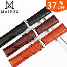 MAIKES New Design Watch Band Genuine Leather Watch Strap 12mm 24mm Watches