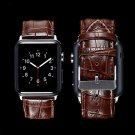 GOOSUU Black  Genuine Leather Buckle Wrist Strap Band Belt for iWatch Apple