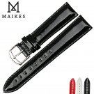 MAIKES Genuine Leather Watch Band 12MM 14MM 16MM 18MM 20MM Strap Watch Brac