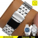 Stainless Steel Watchband for Man Watch Band for Breitling Strap Accessorie