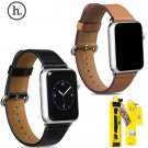 HOCO Black Brown Cowhide Band For iWatch Genuine Leather Wrist Strap w Adap