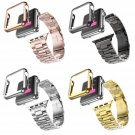 5 Colors 316L Stainless Steel Strap For Apple Watch Band Gold Plating Cover