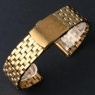 18/20/22MM Luxury Golden Stainless Steel Watch Band Men Male Watches Replac