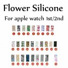 Colorful Butterfly Flower Skull Sports Silicone Strap for Apple Watch Band
