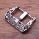 Retro Stainless Stee Watch Buckle 20mm 22mm 24mm Black Metal Brushed Watch
