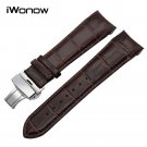 Curved End Genuine Calf Leather Watchband for T035 Couturier Watch Band But