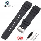 Rubber Watch Band Strap Sport Diving 18 20 22mm Men Silicone Bracelet With