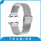 Milanese Stainless Steel Watchband + Adapter for iWatch Apple Watch 38mm 42
