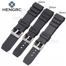 HENGRC Rubber Watchbands 18 20 22mm Men Sport Diving Silicone Watch Band St