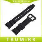Black Silicone Rubber Watchband for SGW 100 Replacement Watch Band Sports W