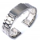 New High Quality Watch Band Womens Men 20mm 22mm Buckle Silver Stainless St