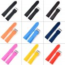 Watchbands 18mm, 20mm, 22mm, 24mm 9 colors New Silicone Rubber Watch Strap
