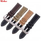 Men's Watch Bracelet Strap Stainless Steel Leather Matte Leather Buckle Wat