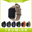 Nylon Watchband + Adapters for iWatch Apple Watch 38mm 42mm Zulu Band Fabri