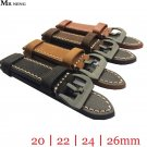 MR NENG 20mm 22mm 24mm 26mm Leather Watch Strap Watch Band Man Watch Straps