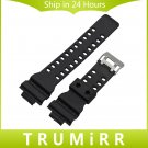 Silicone Rubber Watchband 16mm x 29mm Convex Strap for GA100 G8900 GD 100 M