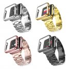 For Apple Watch Band Three Links Stainless Steel Strap for Smart Apple Watc