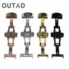 OUTAD Stainless Steel Watch Band Buckle Durable Double Folding Butterfly De