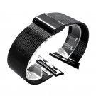 Black Stainless Steel Mesh Band Bracelet for Apple Watch 38mm 42mm Watchban
