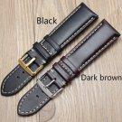 Handmade Genuine Leather Watchbands 18 19 20 21 22 24mm Black Dark Brown VI