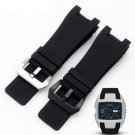 32x17mm Silicone Rubber Watch straps Stainless Steel Pin Clasp for Diesel D