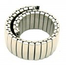 Silver 18mm Band Width Stainless Steel Expansion Wrist Watch Buckle Band St
