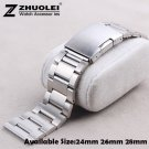 New Brushed Stainless Steel Watchband 24mm 26mm 28mm Watch Band Strap for M