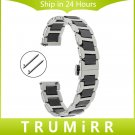 Ceramic + Stainless Steel Watchband Universal Quick Release Watch Band Butt