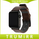 Italian Oily Leather Watchband for iWatch Apple Watch 38mm 42mm Series 1 2