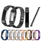 High Quality Stainless Steel Watchband Three Links Classic Buckle Metal Wat