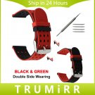 22mm 24mm Silicone Rubber Watchband Double Side Wearing Strap for Diesel Me