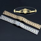 Watch Band Stainless Steel Solid Link WatchBand Bracelet Straight End Band
