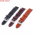 Leather Watch Strap Band Stainless Steel Buckle Wristwatch Bracelet Accesso